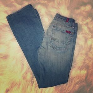 Light wash 7 for all mankind bootcut size 27